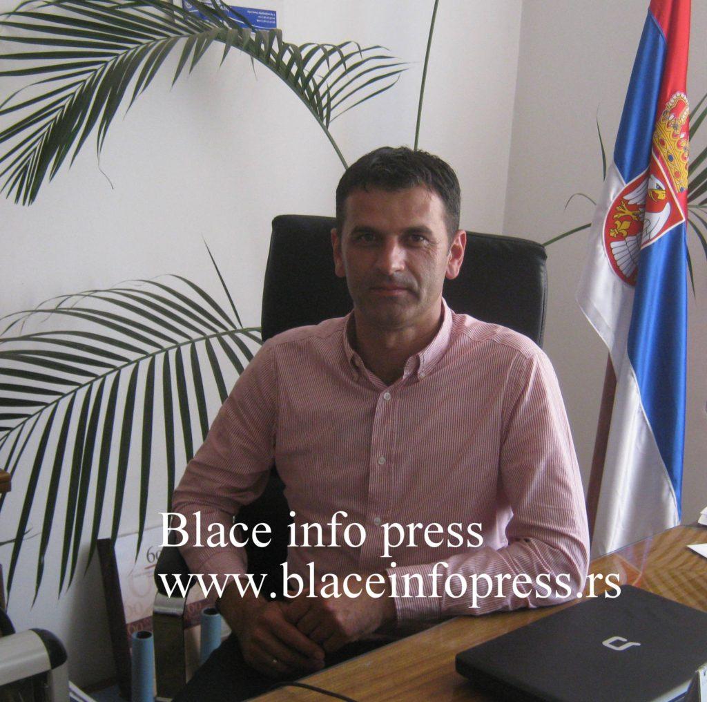 Predsednik opstine Blace Ivan Burgic