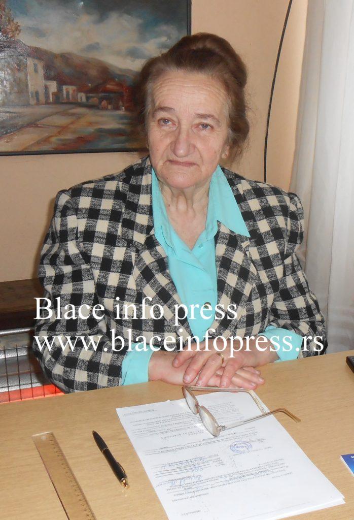 Verica Selmic - predsednik udruzenja penzionera opstine Blace