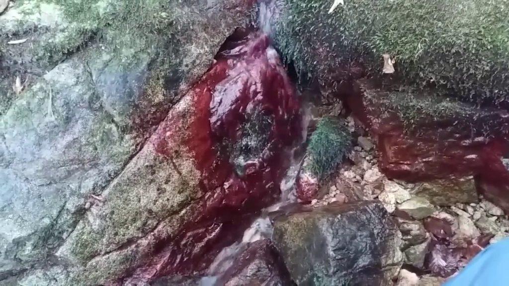Jošanički bistri potok farba kamenje u crvenu boju